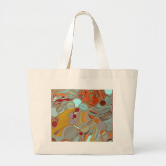 Liquid Bubbles Abstract Design Large Tote Bag