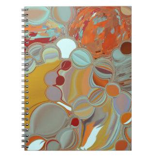 Liquid Bubbles Abstract Design Notebook