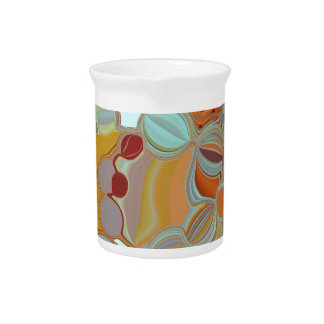 Liquid Bubbles Abstract Design Pitcher