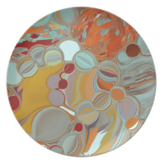 Liquid Bubbles Abstract Design Plate