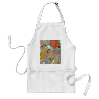 Liquid Bubbles Abstract Design Standard Apron