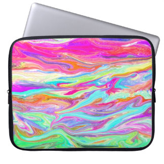 Liquid Color Neon Laptop Sleeve