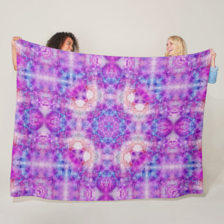 Liquid Color Watercolor Dream Mandala Plush Fleece Blanket