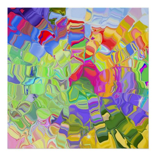 liquid colour abstract poster from 14.95