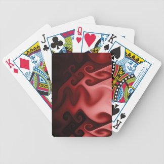 Liquid flames (pink) poker deck