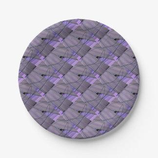 liquid foliage paper plate