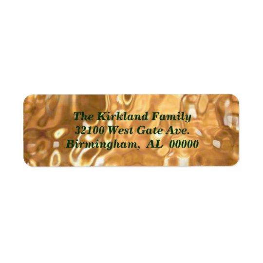 Liquid Gold Holiday Address Labels