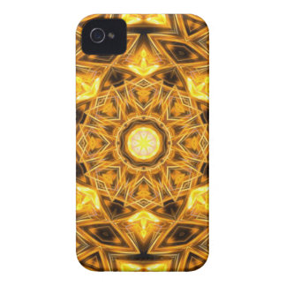 Liquid Gold Mandala iPhone 4 Case-Mate Case