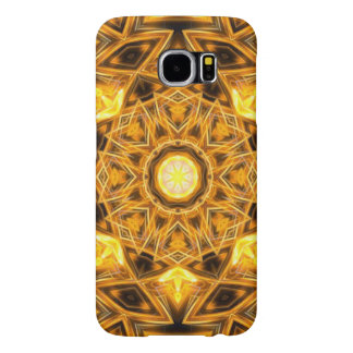 Liquid Gold Mandala Samsung Galaxy S6 Cases