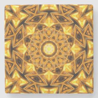 Liquid Gold Mandala Stone Coaster