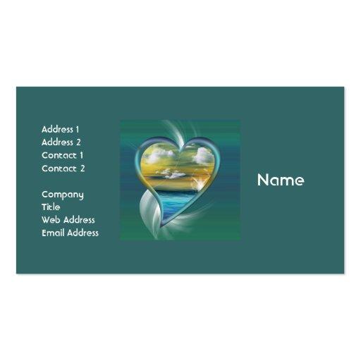 Liquid Heart Business Cards