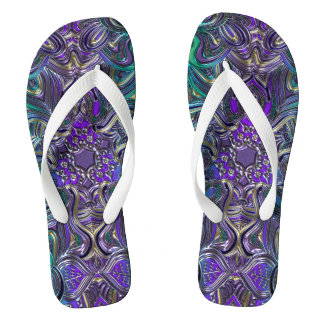Liquid Lavender Mandala Thongs