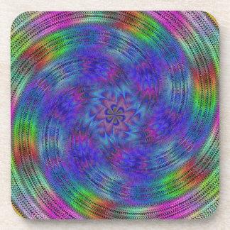 Liquid rainbow coaster