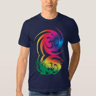 Liquid Rainbow Om Symbol Shirt