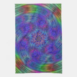Liquid rainbow tea towel