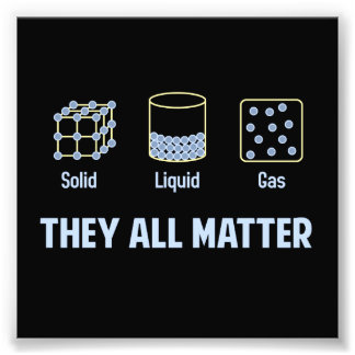 Liquid Solid Gas - They All Matter Photo Art