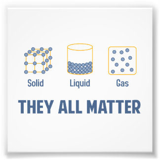 Liquid Solid Gas - They All Matter Photograph