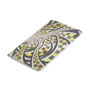 Liquid Taxi Cab, a Yellow Checkered Retro Fractal Journal