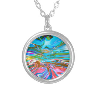 Liquid Texture Silver Plated Necklace