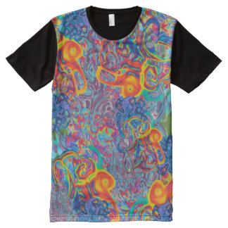 Liquid Tie Dye All-Over Print T-Shirt