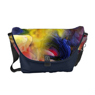Liquid Tulip Colors Abstract Commuter Bag Courier Bags