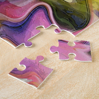 Liquid Tulip Colours Abstract Jigsaw Puzzle