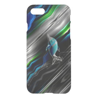 Liquid Vibrations Dolphin Neon iPhone Case