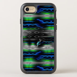Liquid Vibrations Dolphin Neon OtterBox Symmetry iPhone 7 Case