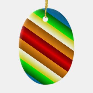 Liquidartz Double Edged Rainbow Ceramic Oval Decoration