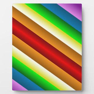 Liquidartz Double Edged Rainbow Plaque