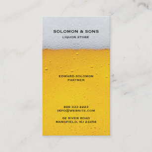 Liquor stores business cards zazzle au liquor beer store business card reheart Images