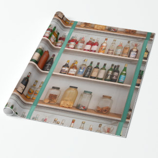 Liquor bottles wrapping paper