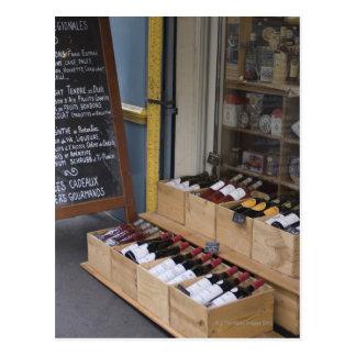 Liquor Store in Paris Postcard