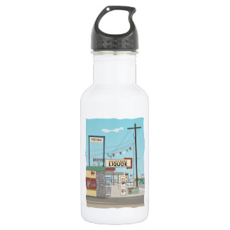Liquor Store on Route 66 532 Ml Water Bottle