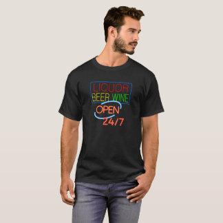 Liquor Wine Beer 24 Hours T-Shirt