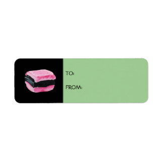 Liquorice Allsorts green Gift Tag Label Return Address Label