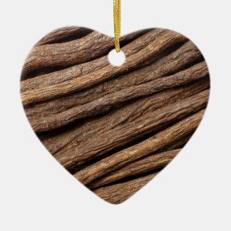Liquorice root ceramic heart decoration