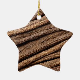 Liquorice root ceramic star decoration
