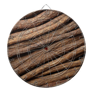Liquorice root dartboard