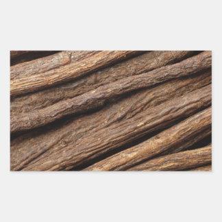Liquorice root rectangular sticker