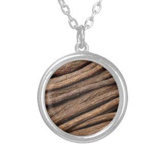 Liquorice root round pendant necklace