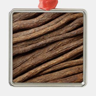 Liquorice root Silver-Colored square decoration