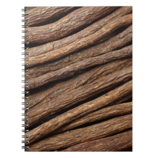 Liquorice root spiral notebook