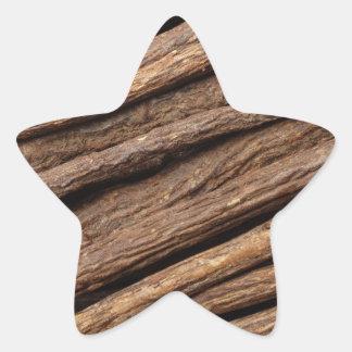 Liquorice root star sticker