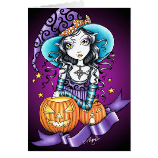 Lisa Gothic Halloween Witch Card