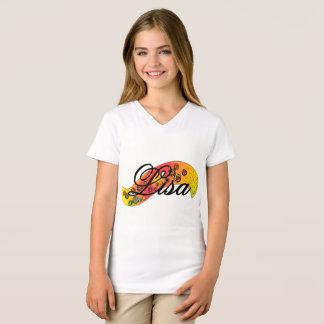 """Lisa"" Graphic on Girl's White T-Shirt"