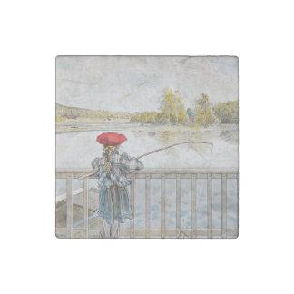 Lisbeth Fishing 1898 Stone Magnet