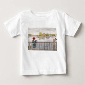 Lisbeth Fishing by Carl Larsson Baby T-Shirt