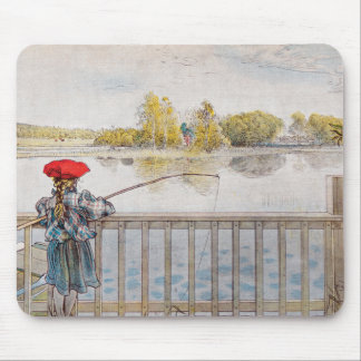 Lisbeth Fishing by Carl Larsson Mouse Pad