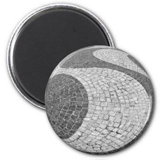 Lisboa cobble 6 cm round magnet